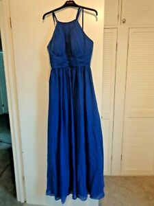jjs house bridesmaid dress/ special occasion royal blue size 12