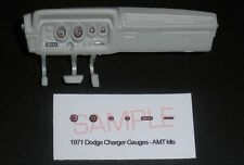 1971 DODGE CHARGER R/T GAUGE FACES for 1/25 scale AMT KITS