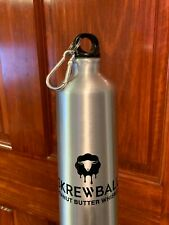 Skrewball Peanut Butter Whiskey Aluminum Water Bottle with screw top and clip
