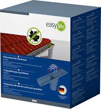easylife Hausschutz-PVC-Dachrinnenfallrohrschutz zinkgrau