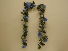 BLUE Roses Garland Artificial Silk Flowers 6' Vine 1029BL