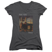 PINK FLOYD FADED ANIMALS Women's Junior V-Neck Graphic Band Tee Shirt SM-2XL