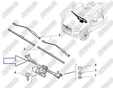 Fiat Doblo Vauxhall Combo D Van Front Wiper Motor & Linkage Assembly Genuine NEW