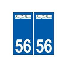 56 Saint-Jean-Brévelay logo autocollant plaque stickers ville arrondis