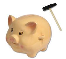 Salvadanaio in terracotta a forma di maialino con martello idea regalo gadget