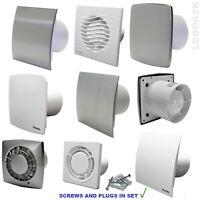 "Extractor Fan Ø100 4"" Bathroom Kitchen Toilet Wet Room SWITCH Ventilation Silent"