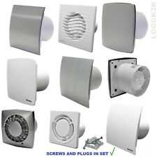 "Extractor Fan Ø100 4"" Bathroom Kitchen Toilet Wet Room SWITCH Ventilation Silent"