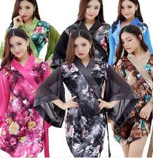 New Printed Japanese Kimono Silk Satin Silk Shampoo Kimono Clothing Bathrobe