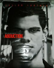 """Double-Sided Movie Theater Poster Taylor Lautner Movie """"Abduction"""" 27"""" x 40"""""""
