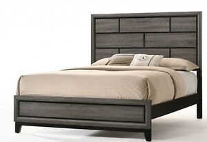 Weathered Gray Eastern King Bed