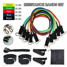 11Pcs Fitness Resistance Bands Set Home Gym Exercise Tube Bands Training Rope