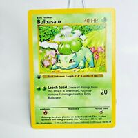 1X  1st Edition Bulbasaur 44/102 Shadowless Base Set Pokemon Card WOTC