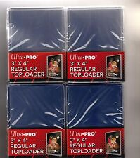 "100 ULTRA-PRO 3"" x 4"" REGULAR TOP-LOADERS, ULTRA CLEAR!"
