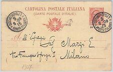 53362 - LEVANTE ITALIANO -  INTERO POSTALE  Sassone C7 : COSTANTINOPOLI 1908