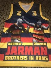 ## AFL Adelaide Crows Brothers In Arms Andrew & Darren Jarman Jumper Premiers ##