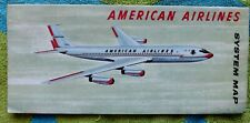 VINTAGE 1960-61 AMERICAN AIRLINES SYSTEM MAP BROCHURE