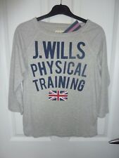 JACK WILLS Grey Long Sleeve PHYSICAL TRAINING Top Size 8 NWT