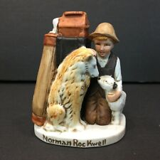 Norman Rockwell Friends in Need Boy with Dogs Figurine 1980 Dave Grossman Design