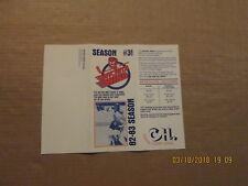 CHL Wichita Wind Vintage Defunct Circa 1982-83 Hockey Season Ticket Brochure