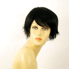 perruque femme 100% cheveux naturel courte noir ref PATRICIA 1b