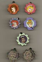 DISNEY PIN PRINCESS FLOWERS COLLECTION COMPLETE W/ 2 CHASERS HM