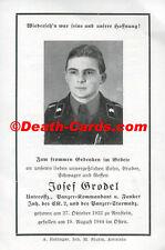 ORIG. morire immagine-DEATH CARD-giovane carri armati comandante-Elite TK UNIFORM