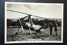 AVRO ROTA   Autogyro  Helicoper   Original 1930's Vintage Photo Card # VGC