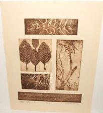 "WORLOCK ""WINDFALL"" LIMITED EDITION SIGNED VINTAGE ETCHING"