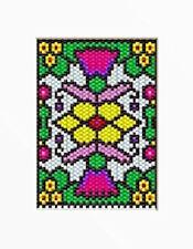 Stainglass Sunflowers & Thistles Beaded Banner Pattern