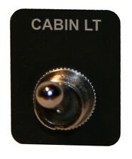 TOGGLE Switch, Labeled boat Marine SPST, sealed, waterproof - Cabin Lights Label