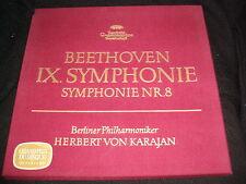 BEETHOVEN 1X. SYMPHONIE NR.8<>KARAJAN<>2 LP VinyL~German Pressing~DG 2707 013