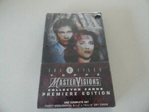 The X-Files Topps Master Visions Premiere Edition Full set sealed