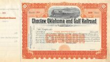 Choctaw Oklahoma and Gulf Railroad 100 shares