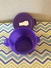 Tupperware Crystalwave Soup Mug Microwave 2 Cups Purple w/ White Spout New