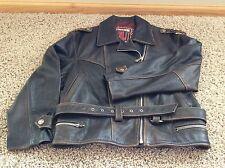 Vintage WINLET Brown Leather Western Biker Riding Men's Jacket Coat Size MEDIUM