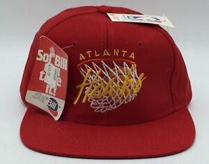 NWT Atlanta Hawks Snapback Hat Cap NBA DREW PEARSON Script OG LOGO 90s 1990s NWA