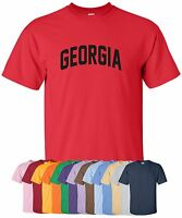 """New """"Georgia"""" T-Shirt in S-4XL, 30+ Colors! peach state bulldogs yellow jackets"""