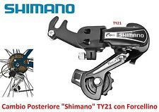 Cambio Posteriore Shimano Tourney TY21 a Forchetta x Bici 20-24-26-28 City Bike