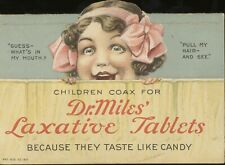 Vintage Advertising Poster - Dr Miles' Laxative Tablets (A4 & A3)