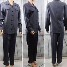 J'ENVIE SPORT New York Lightweight Loose/Casual Blue pleated Pant/Blazer Suit 10