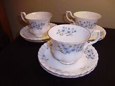 RICHMOND Blue Rock 3 Cups and 6 Saucers    MINT