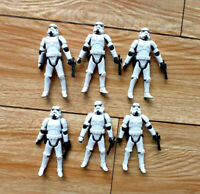 "lot of 6 Hasbro Star Wars Stormtroopers OTC Trilogy action figure w gun 3.75"""
