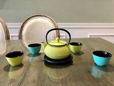 Teavana Japanese cast iron teapot and teacup set