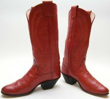 WOMENS OLATHE TALL RED WORN LEATHER COWBOY WESTERN BOOTS SZ 6 B 6B