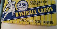 New Collectible 250 ORIGINAL MLB BASEBALL Trading CARDS FLEER DONRUSS TOPPS Set