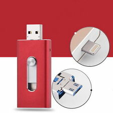 128GB i Flash Red New OTG Dual USB Memory Drive U Disk For IOS iPhone iPad/PC