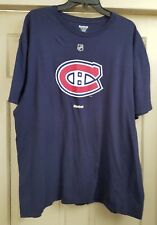 Montreal Canadiens Blue Reebok NHL T-shirt Size 2XL