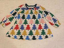girls Mini Boden Christmas Tree Tunic Dress 3-4