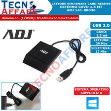 Lettore Smart Card Firma Digitale Tessera Sanitaria CNS ADJ 141-00036