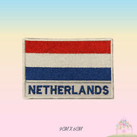 Netherlands National Flag With Name Embroidered Iron On Patch Sew On Badge